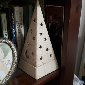 Partylite Moon and Stars Pyramid Candle Holder
